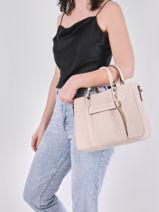 Longchamp Longchamp 3d zip Handbag Beige-vue-porte