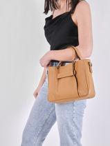 Longchamp Longchamp 3d zip Handbag Brown-vue-porte
