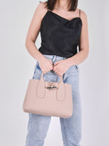 Longchamp Roseau Handbag Pink-vue-porte