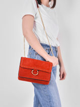 Medium Leather Velvet Crossbody Bag Milano velvet VG180602-vue-porte