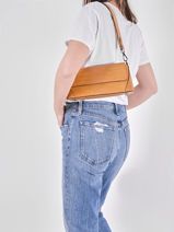 Leather Croco Shoulder Bag Milano Brown CR20122-vue-porte