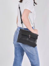 Leather Caviar Crossbody Bag Milano Black CA20125-vue-porte