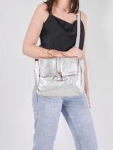 Leather Corneille Argento Crossbody Bag Paul marius Silver argento CORNEARG-vue-porte