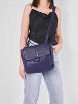 Shoulder Bag Vintage Leather Paul marius Blue vintage CORNEILL-vue-porte