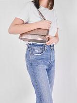 Leather Croco Shoulder Bag Milano Silver croco CR20122-vue-porte