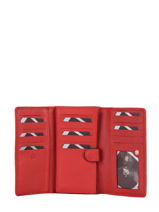Leather Tradition Wallet Etrier Red tradition EHER95-vue-porte