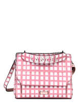 Medium Leather Ninon Vichy Top-handle Bag Lancel Pink ninon A11531