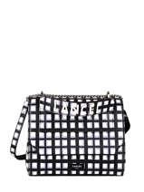 Medium Leather Ninon Vichy Top-handle Bag Lancel Black ninon A11531