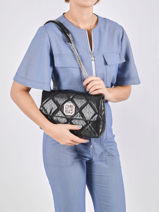 Dilla Quilted Crossbody Bag Guess Black dilla SG797121-vue-porte