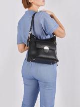 Orbey Shoulder Bag Lulu castagnette Blue soft ORBEY-vue-porte