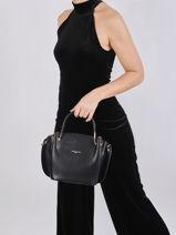 Leather Foulonné Double Satchel Lancaster Black foulonne double 18-vue-porte