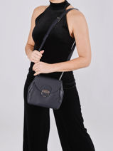 Leather Crossbody Bag Foulonné Pia Lancaster Blue foulonne pia 61-vue-porte