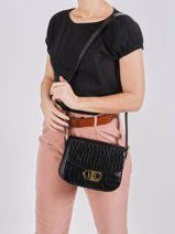 Leather Addie 24 Croco Crossbody Bag Lauren ralph lauren Black addie 24 31818573-vue-porte