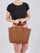 Leather Tyler Tote Bag Lauren ralph lauren Brown tyler 31824861-vue-porte