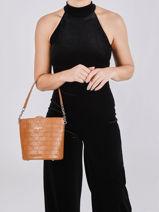 Leather Gaufre Bucket Bag Lancaster Black gaufre 23-vue-porte