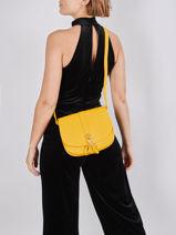 Leather Foulonné Double Crossbody Bag Lancaster foulonne double 35-vue-porte