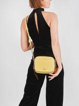 Crossbody Bag Camera Bag Leather Coach Yellow camera bag 29411-vue-porte