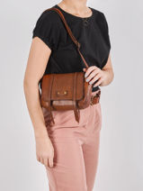 Small Leather Dewashed Crossbody Bag Milano Brown dewashed DE20122-vue-porte