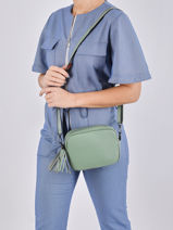 Shoulder Bag  Leather Milano Green CA20064N-vue-porte