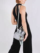 Small Leather Bucket Bag Premier Flirt Lancel Blue premier flirt A10530-vue-porte
