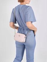 Noelle Logo Print Crossbody Bag Guess Pink noelle PD787914-vue-porte