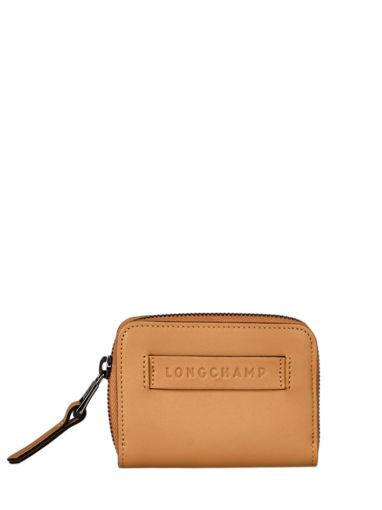Longchamp Longchamp 3d zip Bill case / card case Brown