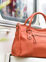 Top Handle Cow Leather Basilic pepper Orange cow BCOW22