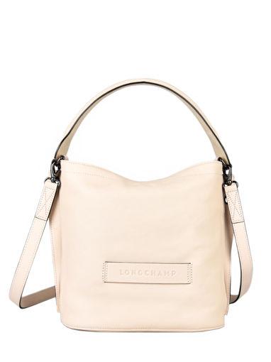 Longchamp Longchamp 3d zip Sacs porté travers Beige