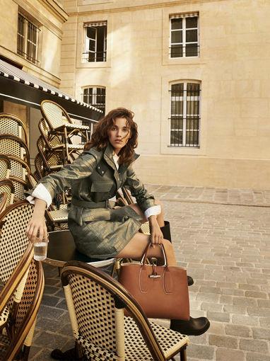 Longchamp Roseau luxe Handbag Brown