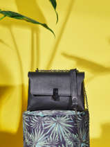 Leather Caviar Crossbody Bag Milano Black CA20125