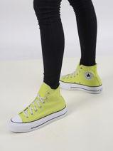 Chuck taylor platform zitron sneakers -CONVERSE-vue-porte