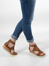 Sandals in leather-MJUS-vue-porte