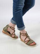Sandales talon compensé en cuir-MJUS-vue-porte