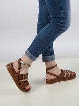 Sandals in leather-MJUS-vue-porte