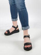 Sandales semelle compensee en cuir-MJUS-vue-porte
