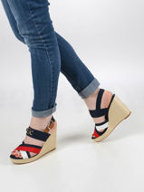 Wedge sandals-TOMMY HILFIGER-vue-porte