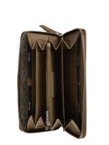 Leather Croco Caia Wallet Burkely Brown croco caia 29-vue-porte