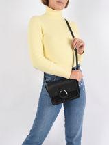 Shoulder Bag Selda Leather Pieces Black selda 17107581-vue-porte