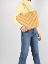 Perforé Shoulder Bag David jones Yellow perf 3-vue-porte