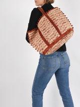 Raffia Le Cabas Tote Bag Vanessa bruno cabas raphia 76V40414-vue-porte