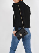 Th Lock Crossbody Bag Tommy hilfiger Black th lock AW09972-vue-porte