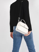 Leather Denim Crossbody Bag Calvin klein jeans White denim K607480-vue-porte