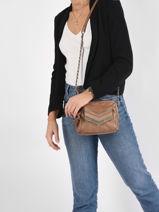 Leather Gina Crossbody Bag Pieces gina 17111477-vue-porte