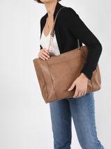 Leather Gunna Tote Bag Pieces gunna 17111490-vue-porte
