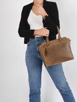 Shoulder Bag Croco Caia Leather Burkely croco caia 29-vue-porte