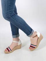 Sandales à talon compensé-TOMMY HILFIGER-vue-porte