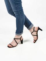 Leather monroy strappy sandals-UNISA-vue-porte