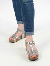 Leather so cross sandals-PLAKTON-vue-porte