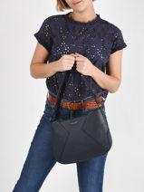 Leather Tessa Crossbody Bag Nathan baume Blue nathan 39-vue-porte