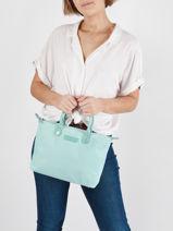 Shopping Bag Basic Vernis Lancaster Blue basic vernis 66-vue-porte